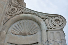 Top fragment of Basilica di Santa Maria del Fiore Florence Royalty Free Stock Photo
