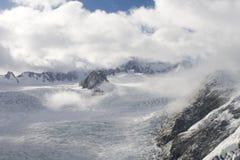 On top of the Franz Joseph Glacier stock photo