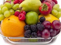 Top of fruit basket Royalty Free Stock Photos