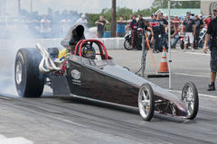 Dragster burnout Royalty Free Stock Image