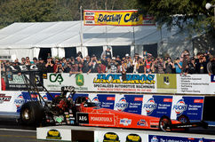 Top Fuel Competition. Darren Morgan has been crowned 2011/2012 ANDRA Pro Series Top Fuel Champion after the final round at Willowbank Raceway Royalty Free Stock Photo