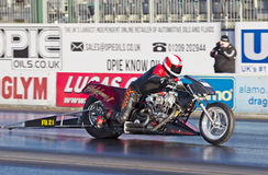 Top fueller drag bike Stock Image