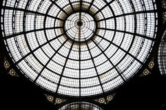 Top of the Galleria Vittorio Emanuele II Stock Image
