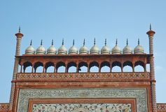 The top of gate to Taj Mahal Royalty Free Stock Photo
