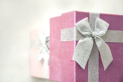 Top of gift boxes Royalty Free Stock Image