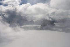 On top of glacier Franz Joseph stock image
