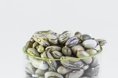 Top of a glass full of dry beans Stock Images