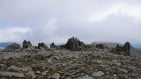 Top of Glyder Fawr in Snowdonia Royalty Free Stock Images