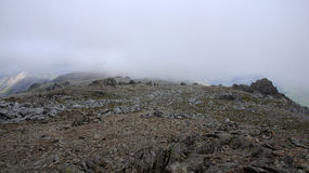 Top of Glyder Fawr in Snowdonia Stock Images