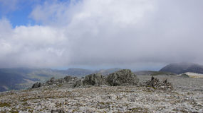 Top of Glyder Fawr in Snowdonia Stock Photos