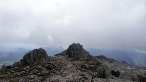 Top of Glyder Fawr in Snowdonia Stock Image