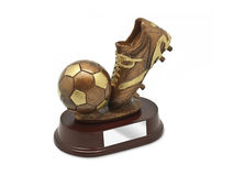 Top Goal Scorer Trophy. Isolated on white Stock Images