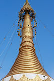 Top of golden stupa Stock Images