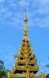 Top of golden stupa at Shwedagon pagoda Royalty Free Stock Image