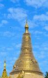 Top of golden stupa at Shwedagon pagoda Stock Photography
