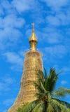 Top of golden stupa at Shwedagon pagoda Royalty Free Stock Photo
