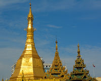 Top of golden stupa at Sule Pagoda Stock Image