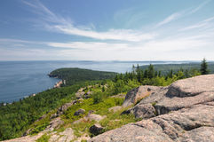 Top of Gorham Mountain Maine Stock Image