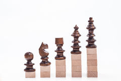 On the top graph. Chess on the top situation Stock Photo