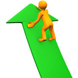 Top Green Arrow Stock Photo
