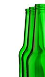 Top of green beer empty bottle Royalty Free Stock Photos