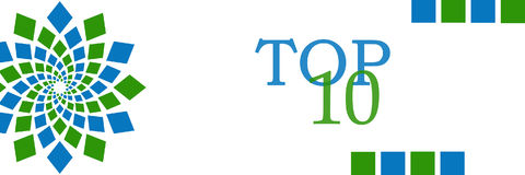 Top 10 Green Blue Circular Horizontal Royalty Free Stock Image