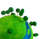 Top of green planet. Stock Images