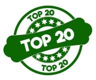 TOP 20 green stamp. Stock Photos