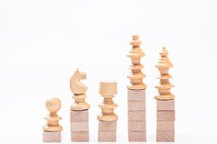 On the top grpah. Chess on the top situation Royalty Free Stock Images