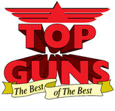 Top Guns. Logo - a logo for the best of the best stock illustration