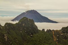 Gunung Sinabung Volcano, Berastagi,Indonesia. Top of Gunung Sinabung Volcano, Indonesia Royalty Free Stock Photos