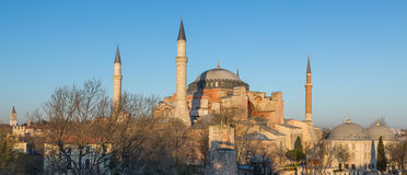 Top of Hagia Sophia cathedral at dusk Stock Photography