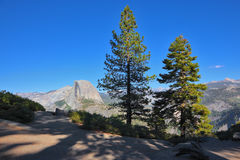 The top Half Doum in Yosemite Royalty Free Stock Image