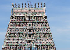 Top half Gopuram of the Kumbeswarar temple. Royalty Free Stock Images