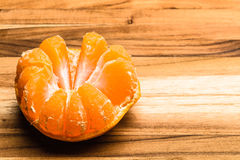 Top Half Peeled Tangerine Stock Image