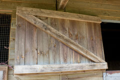 Top Half of a wooden stable door Royalty Free Stock Photo