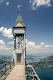 Top of Hammetschwand Elevator near Luzern Royalty Free Stock Images