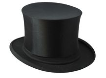 Top hat. Isolated on white background Stock Photo