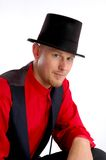 Top Hat. A man in a top hat Royalty Free Stock Images