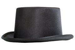 Top hat. Black top hat isolated on white background Royalty Free Stock Image