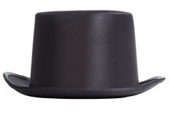 Top hat. Black top hat isolated on white background Royalty Free Stock Photo