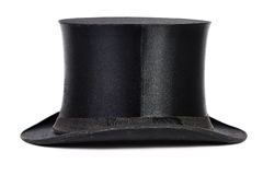 Top hat. Black top hat isolated on white background Royalty Free Stock Images