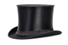 Top hat. Black top hat isolated on white background Royalty Free Stock Photography