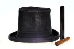 Top hat and cigar Royalty Free Stock Images