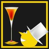 Top Hat Cocktail Menu. A vintage deco style Cocktail Bar Menu Template illustration stock illustration