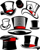 Top Hat Collection Stock Photography