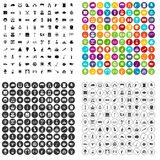 100 top hat icons set vector variant. 100 top hat icons set vector in 4 variant for any web design isolated on white Stock Photography