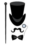 Top hat isolated stock illustration