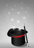 Top hat magic Stock Images