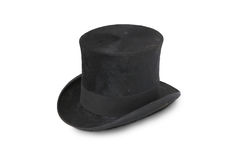 Top hat  (silk hat) of 19th century. Royalty Free Stock Image
